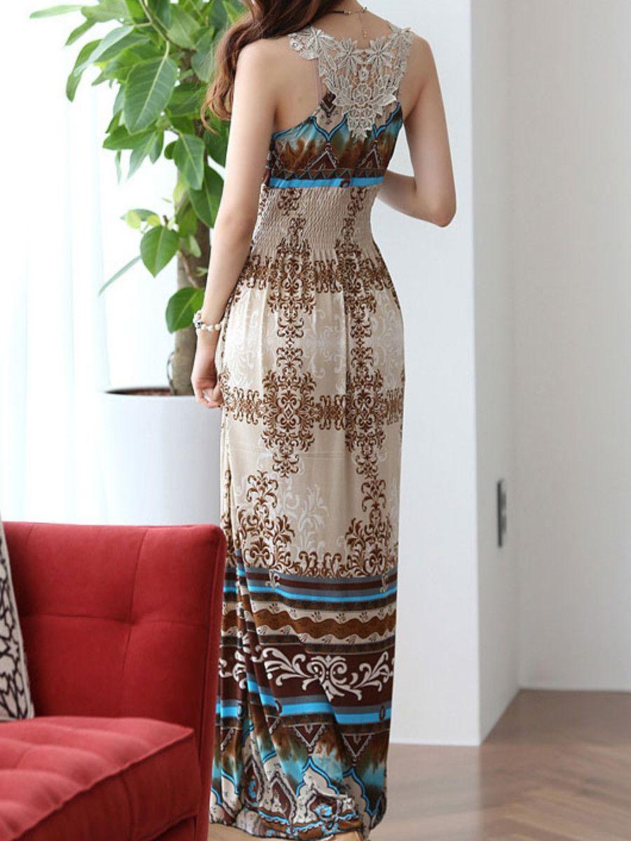 Elegant Wrapped Neck Summer Maxi Dress