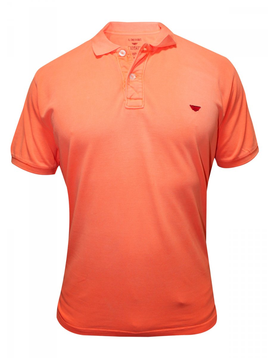 buy t shirts online red tape neon orange polo t shirt