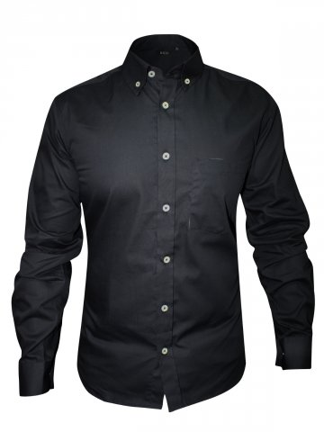 Rigo Pure Cotton Black Formal Shirt at cilory