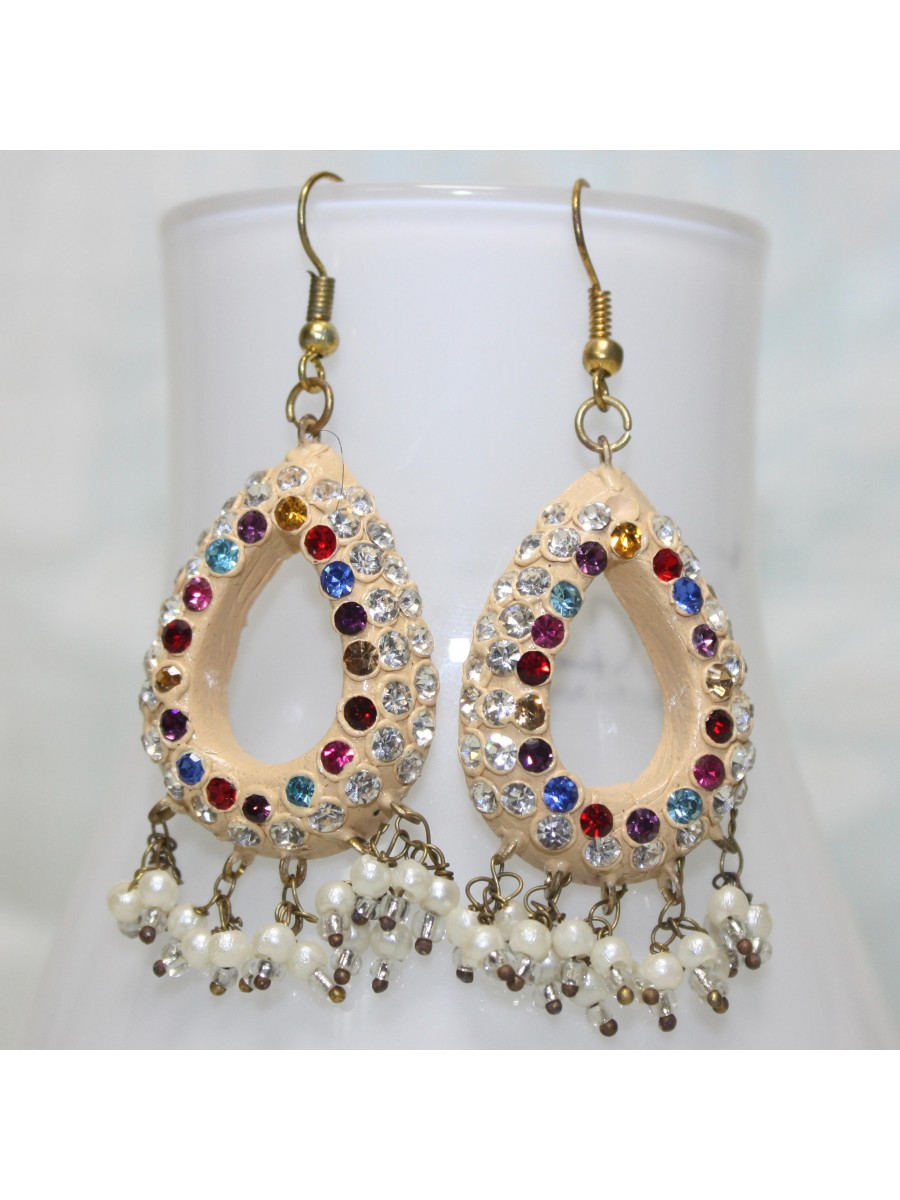 rajasthani lakh handmade rani earrings product wear party fashion colour detail traditional