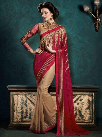 https://static4.cilory.com/129678-thickbox_default/trendz-red-light-beige-designer-party-wear-saree.jpg
