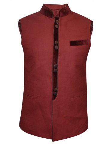 Rebel Maroon Waist Coat at cilory