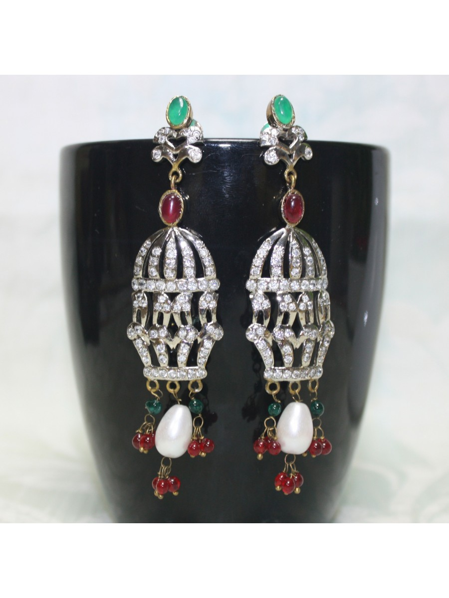earrings coral black enamel blood watch adin victorian reference pearl gold antique