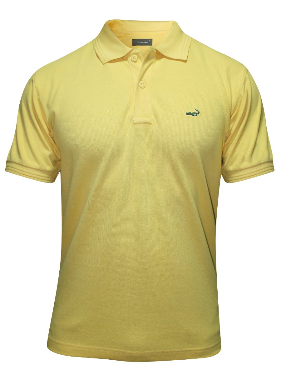 buy t shirts online crocodile yellow polo t shirt