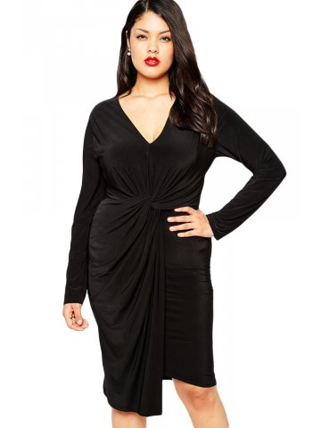 https://static9.cilory.com/177960-thickbox_default/plus-size-knot-front-plunge-jersey-pencil-dress.jpg
