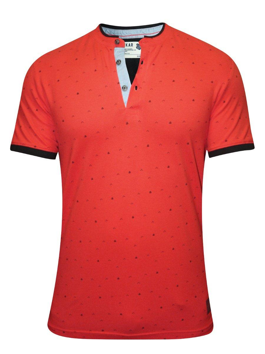 Spykar orange printed polo t shirt rts s16 49 orange for Polo t shirt printing