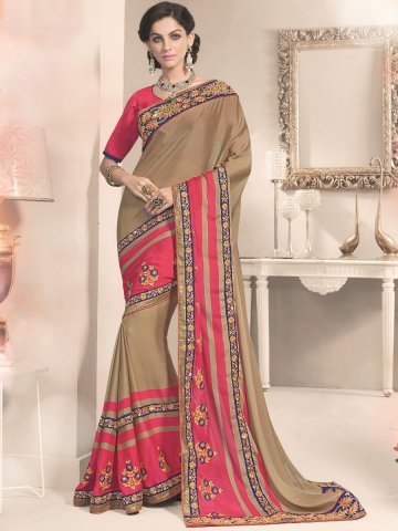 https://static1.cilory.com/188388-thickbox_default/aarya-brown-pink-silk-georgette-saree.jpg