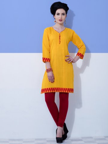 https://static7.cilory.com/191567-thickbox_default/rahi-yellow-maroon-pure-cambric-kurti.jpg