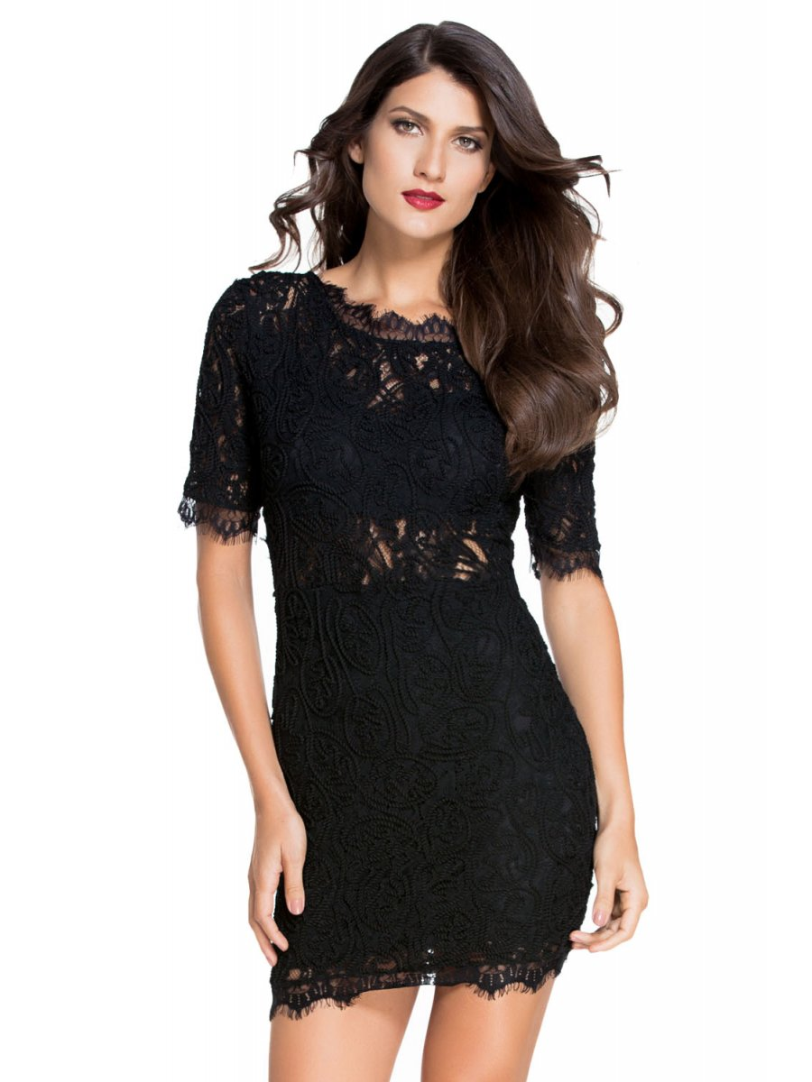 Black Evening & Formal Dresses. Clothing & Shoes / Women's Clothing / Dresses / Evanese Women's Elegant Lace Evening Party Formal Long Dress Gown with Empire Waist Full Skirt and Short Sleeves. 14 Reviews. More Options. Betsy & Adam Women's Open-Back Lace Mermaid Gown - Black.