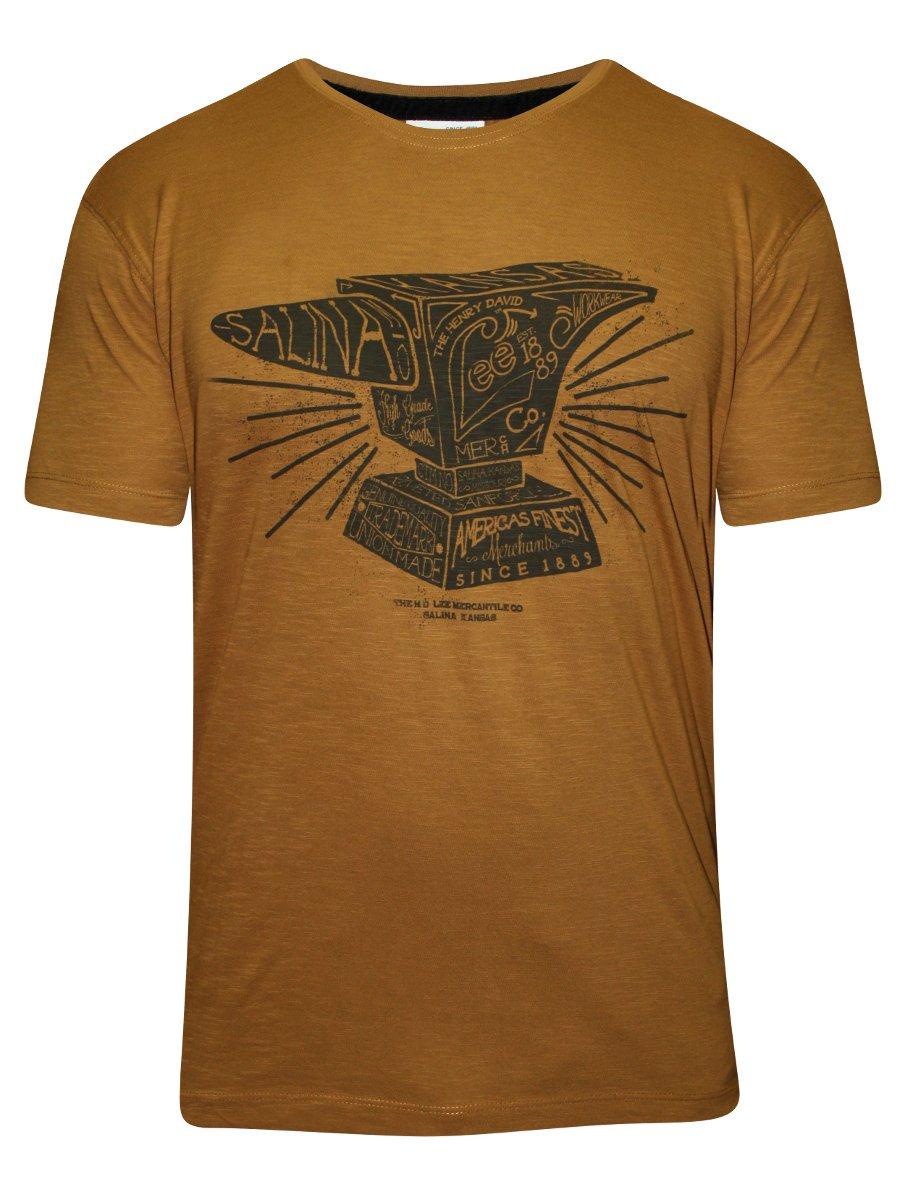 4dcbb25ecc5d Buy T-shirts Online   Lee Light Brown Round Neck T-shirt ...