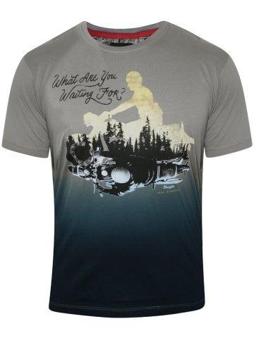 Wrangler Grey Round Neck T-Shirt at cilory