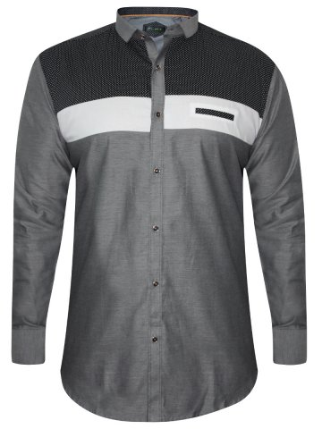 Flirt Black & Grey Party Wear Shirt at cilory