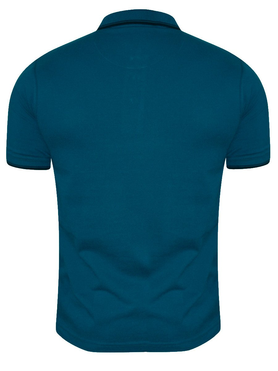 Peter england teal pocket polo t shirt pkw51600427 hs for Polo t shirts with pockets