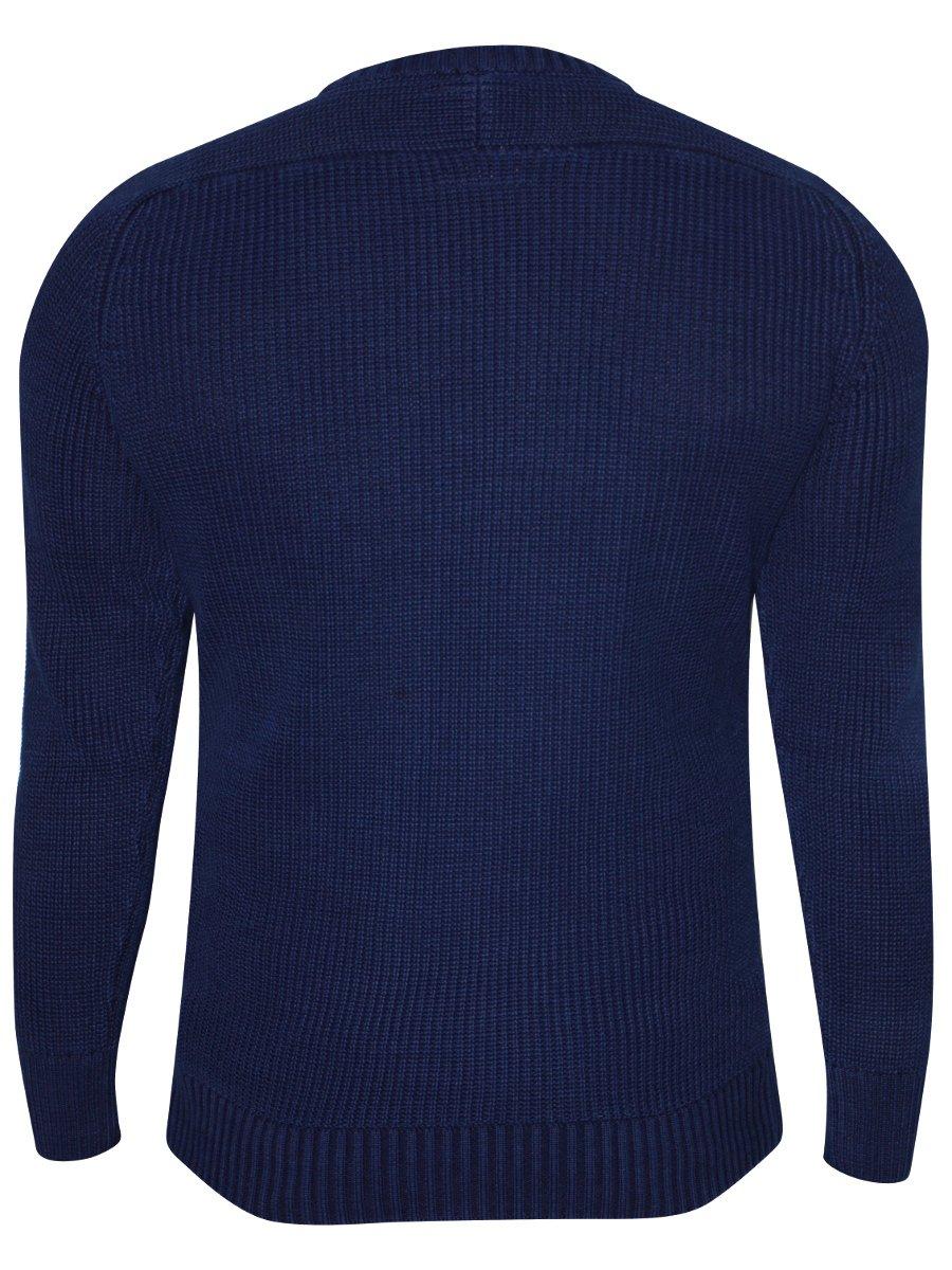 Spykar Indigo Blue Sweater   Mfk145hwf02af-indigo   Cilory.com