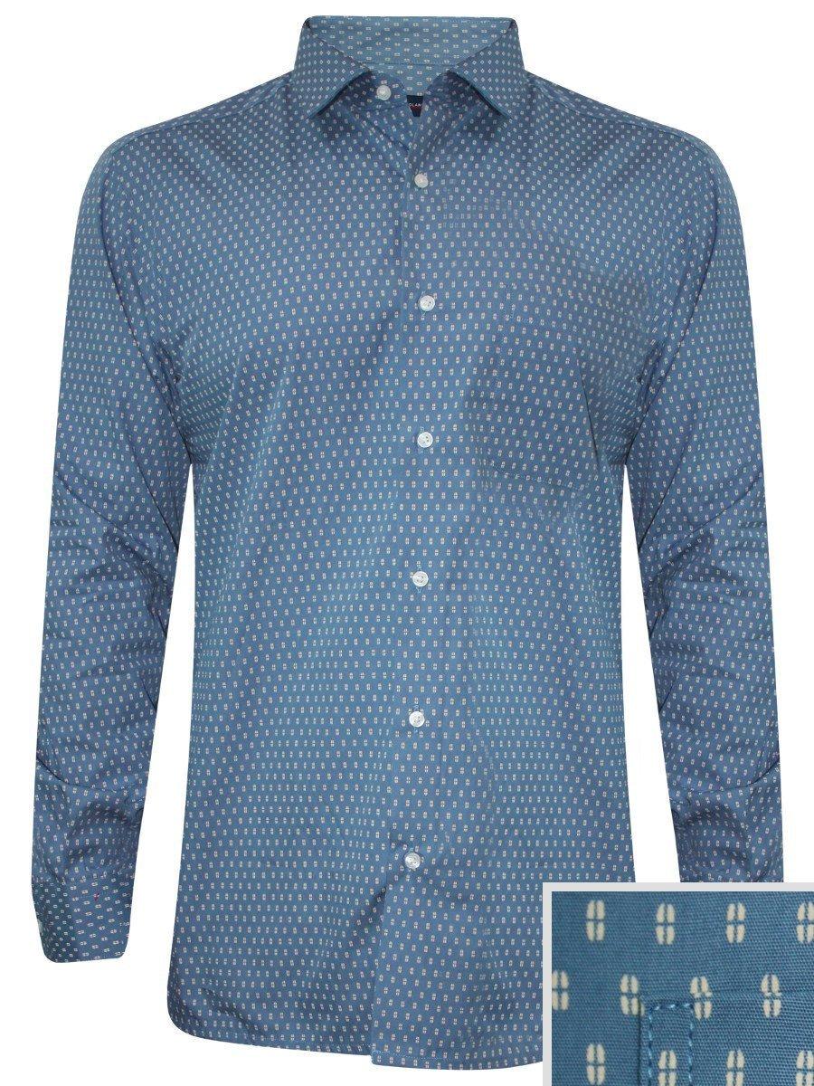 Peter England Blue Formal Shirt Psf51609678 Fs Cilory Com