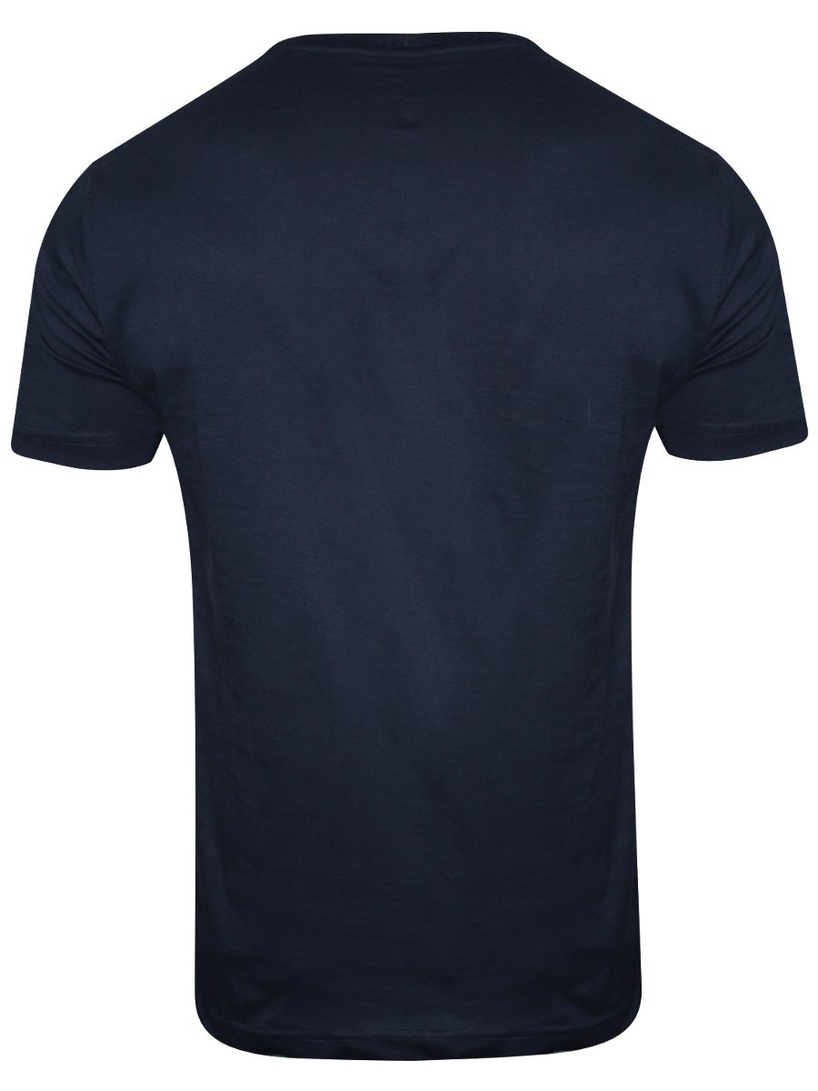 Buy t shirts online rootstock navy blue round neck t for Navy blue shirt online