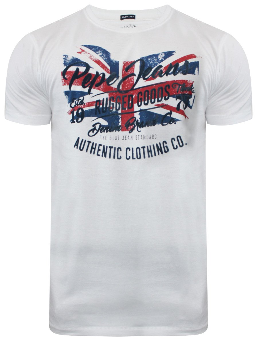 Buy t shirts online pepe jeans fifa white t shirt for Buy t shirts online