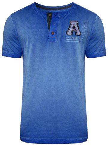 Arrow Blue Henley T-Shirt at cilory
