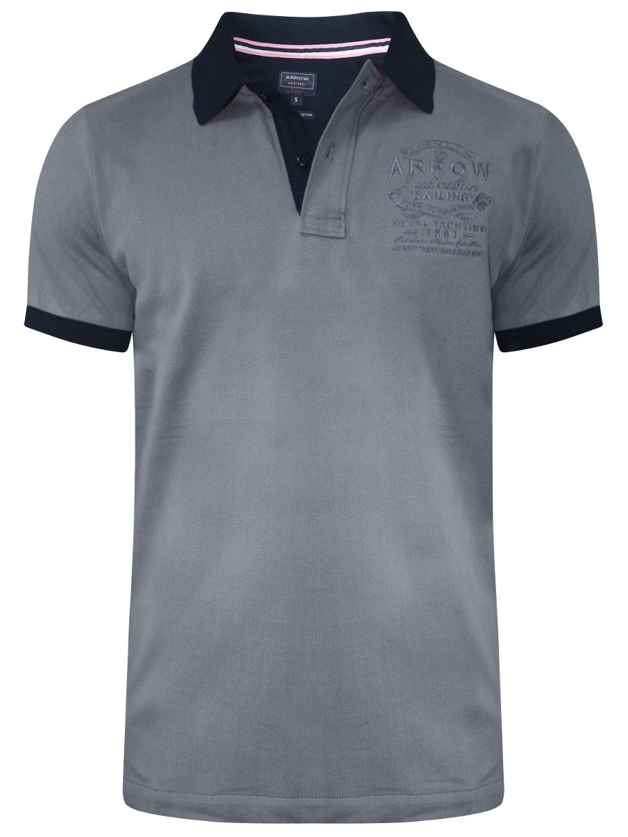 Buy T Shirts Online Arrow Grey Polo T Shirt Akts3404 Cilory