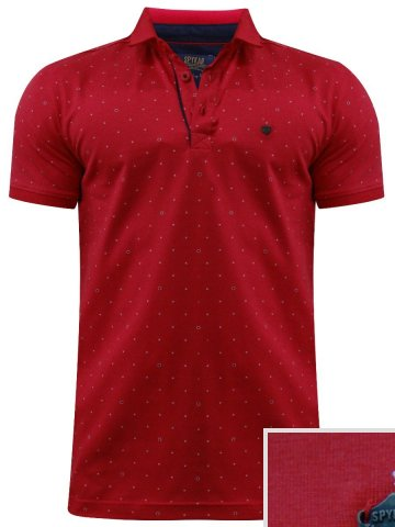 Spykar Red Polo T-Shirt at cilory