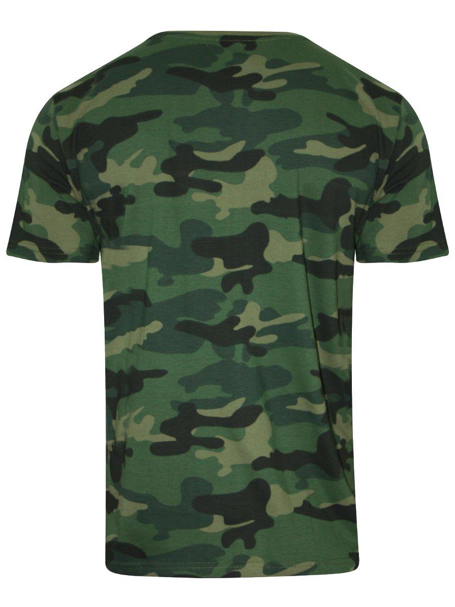 17b8a067f7 Buy T-shirts Online   Wyo Green Round Neck Camo Print T-shirt ...