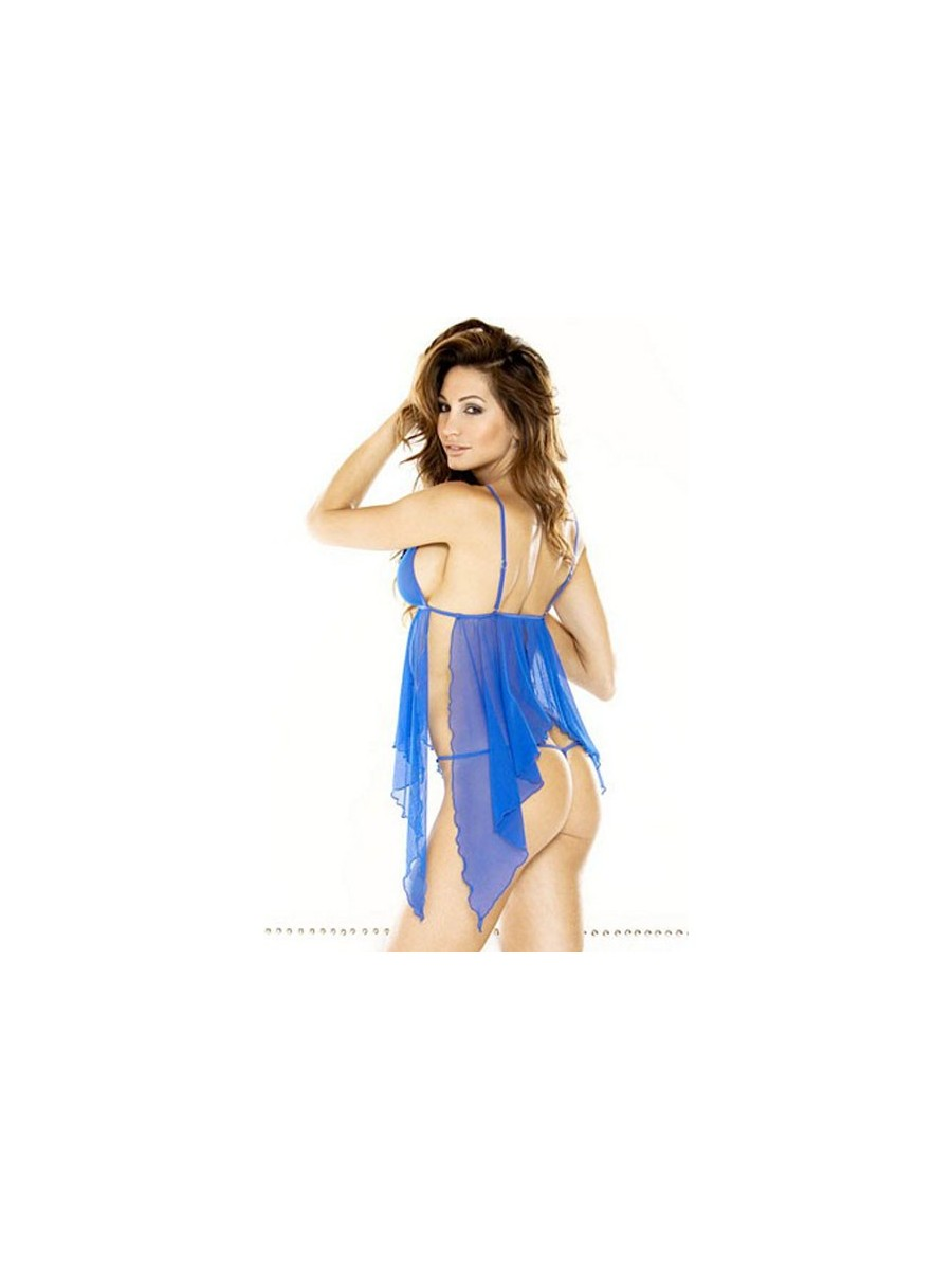 7a3ba6b94dc Blue Butterfly Sequin Lace Teddy with G-String ...