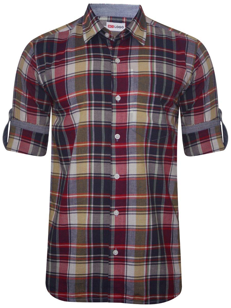 Nologo Off White & Red Casual Shirt | Nologo-cs-039 ...