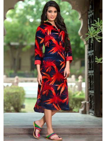 40c3694f2 ... Red Cotton Printed Kurti.  https   static1.cilory.com 292466-thickbox default ethnic-