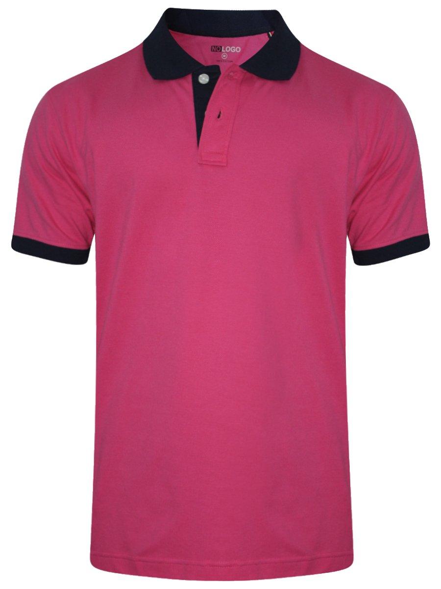 Buy T-shirts Online | Nologo Fuschia Pink Polo T-shirt | Nologo-pt ...