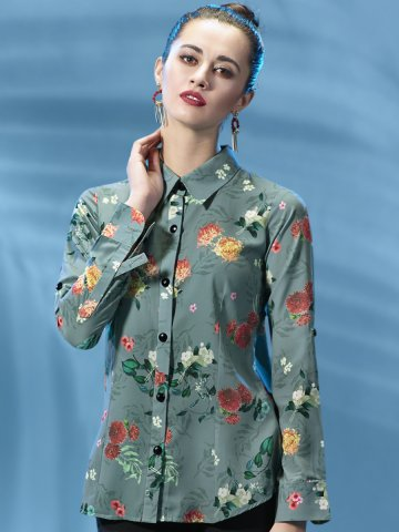 Wild Green Printed Short Top at cilory
