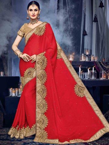 https://static4.cilory.com/315213-thickbox_default/poshaak-red-golden-brown-designer-saree.jpg