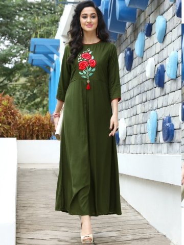 https://static6.cilory.com/321824-thickbox_default/choice-mahendi-green-gown-style-embroidered-kurti.jpg