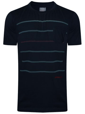 Arrow Navy Round Neck T-Shirt at cilory