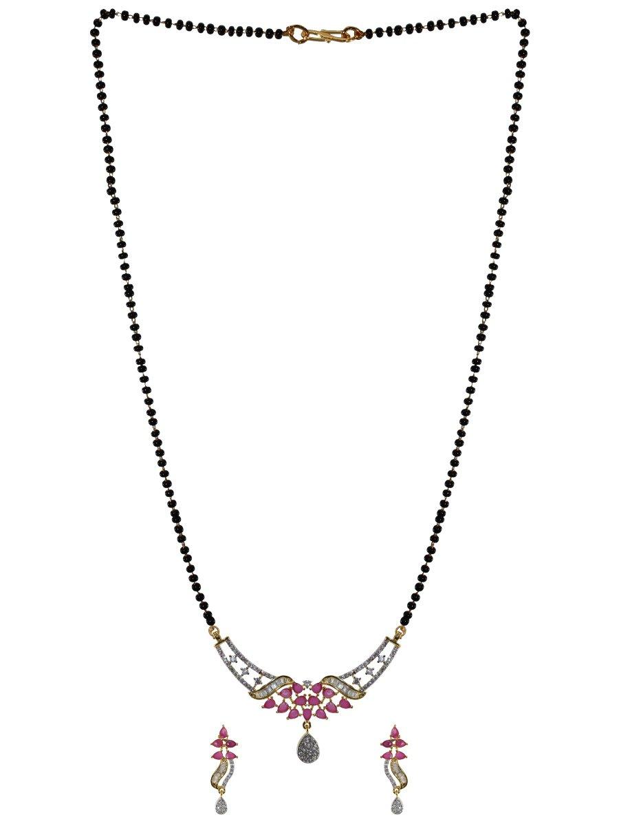 f63bfcff2 Maira Series American Diamond Mangalsutra With Earrings   B296-an03 ...