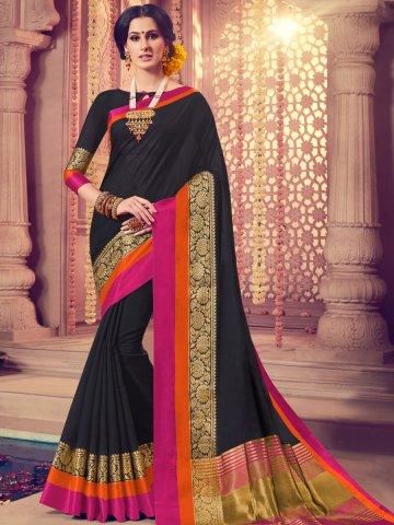 9d3033345d2ac1  Vivanta Black Saree with Golden Print Work.  https   static5.cilory.com 362774-thickbox default vivanta-