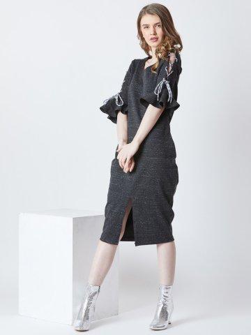 073caa584e35  Estonished Dark Grey Midi Dress.  https   static1.cilory.com 370559-thickbox default estonished-