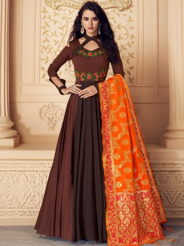 https://static9.cilory.com/377563-thickbox_default/brown-cold-shoulder-stitched-gown-with-banarasi-dupatta.jpg