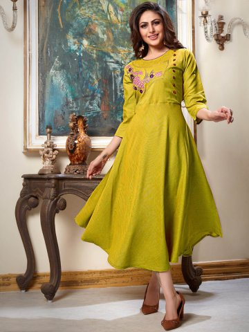 https://d38jde2cfwaolo.cloudfront.net/383490-thickbox_default/two-tone-mustard-embroidered-kurti.jpg