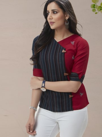 https://static5.cilory.com/407361-thickbox_default/maroon-blue-cotton-rayon-top.jpg
