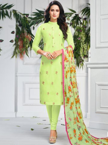 https://static2.cilory.com/407643-thickbox_default/cool-green-chanderi-cotton-semi-stitched-suit.jpg