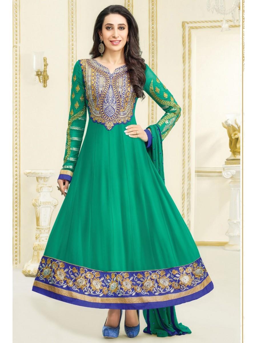 Karishma Kapoor Series Un-stitched Anarkali Suit | Mf-el-3-13 ...