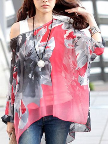 https://static.cilory.com/98572-thickbox_default/monochrome-flower-batwing-coral-chiffon-blouse.jpg